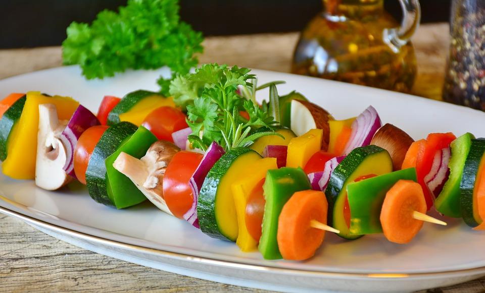 Vegetariskt grillspett